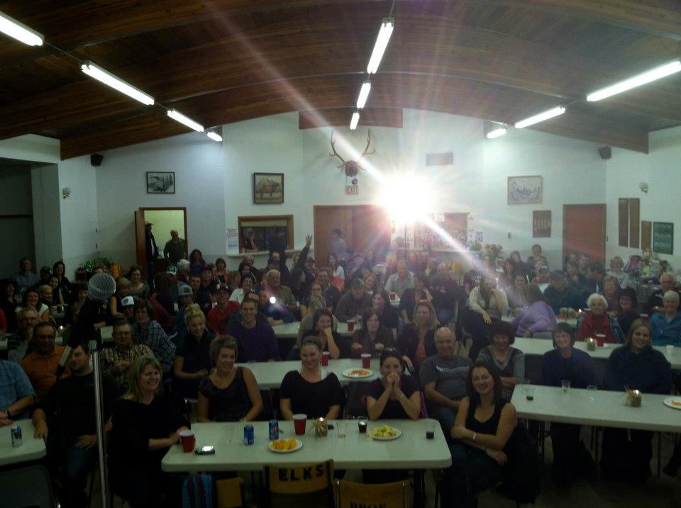 What a great night in Rosetown, we raised over $6,000.00