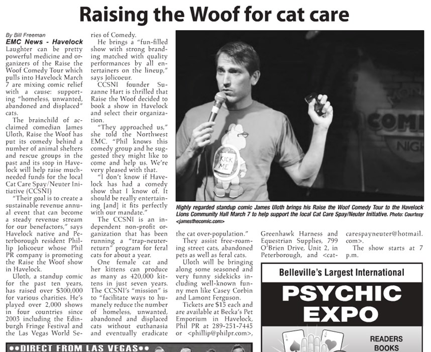 raise woof for cat care